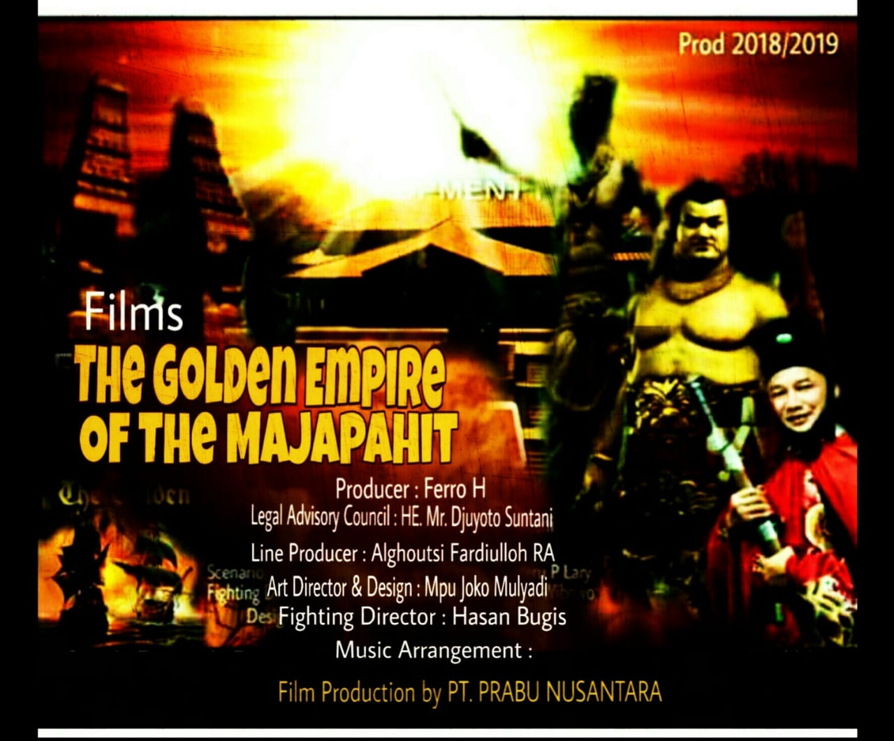 PT. Prabu Nusantara Akan Produksi Film The Golden Empire Of The Majapahit