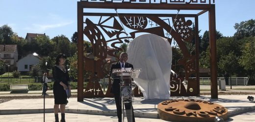 President of the World Mr. Djuyoto Suntani Inaugurates World Peace Gong in Vukovar Croatia Europe