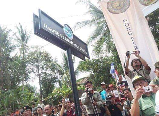 World Peace Gong Road to Commemorate the Walk of the World President Mr. Djuyoto Suntani