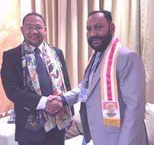 Chairman of the World Peace Committee HE Dr Agha Tareq Khan Support of President Djuyoto Suntani About China
